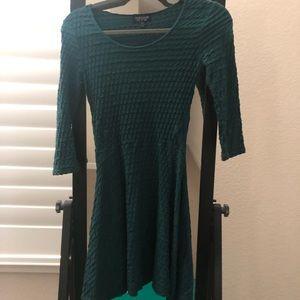 Topshop green lone sleeve dress.